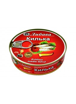 144 Килька в томатном соусе, ключ, вкладыш 160гр. оптом