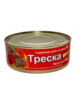 321 Треска в томатном соусе, 240гр. оптом