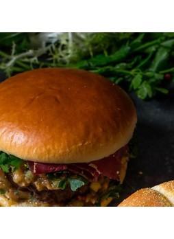 Булочка для гамбургера Бриошь оригинальная125мм 84гр х24шт ЛантманненЮниб (200991)(КОД 15037)(-18°С)