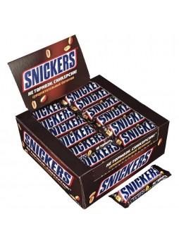 Батончик шоколадный Snickers® с арахисом 48 х 50,5 гр упак х 6, Россия (КОД 35143) (+18°С)