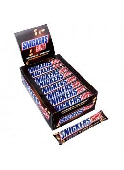 Батончик шоколадный Snickers® Super с арахисом 32 х 95 гр упак х 4, Россия (КОД 35299) (+18°С)