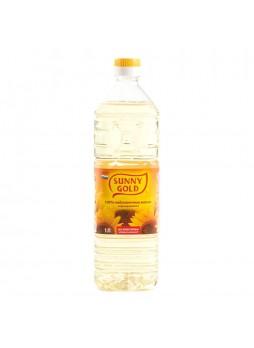 Масло подсолнечное рафинированное 1л х15 пл/б Sunny Gold Россия (КОД 47836) (+18°С)