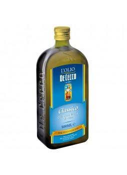 Масло оливковое Extra Virgin Classico 0,5л x12 ст/б De Cecco Италия (КОД 13629) (+18°С)