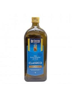 Масло оливковое Extra Virgin Classico 1л х12 ст/б De Cecco Италия (КОД 47845) (+18°С)