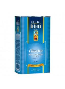 Масло оливковое Extra Virgin Classico 5л х2шт ж/б De Cecco Италия (КОД 97184) (+18°С)
