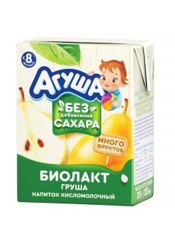 Биолакт Агуша фруктовый груша 2.9% c 8 месяцев 200 мл