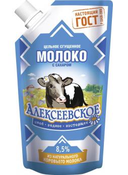 Алексеевское Молоко цельное сгущенное с сахаром 8,5% 270г