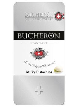 BUCHERON Шоколад молочный с фисташками 100г