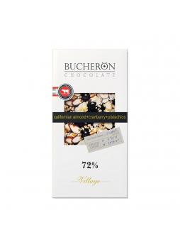 BUCHERON Шоколад горький с миндалем, клюквой и фисташками 72% какао 100г