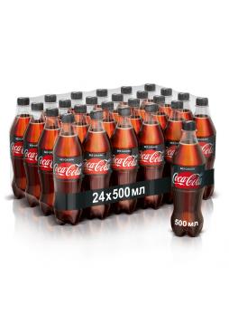 Coca-Cola Zero Напиток газированный безалкогольный без калорий 0.5л