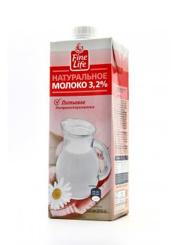 Fine Life Молоко ультрапастеризованное 3,2%, 925г БЗМЖ