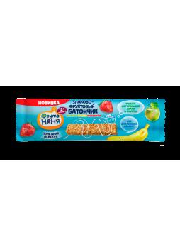 Батончик фруктово-злаковый ФРУТОНЯНЯ, яблоко/банан/клубника, 25 г