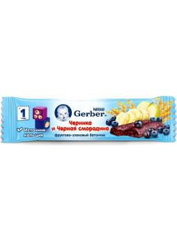 Батончик GERBER черника-черная смородина, 25г
