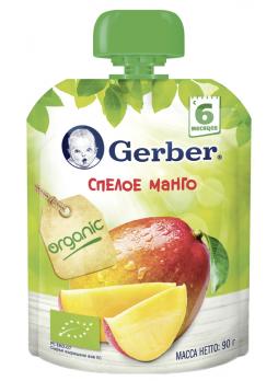 Gerber Фруктовое пюре Спелое Манго (с 6 мес.), 90 г