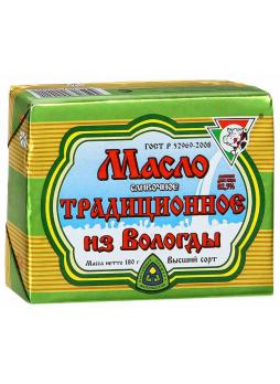 Масло из Вологды сливочное традиционное 82.5% 180г