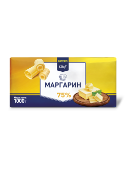 Маргарин Metro Chef 75%, 1кг
