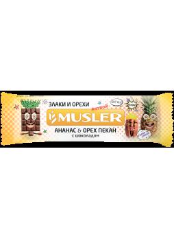 Батончик мюсли-ананас-орех MUSLER, 30г
