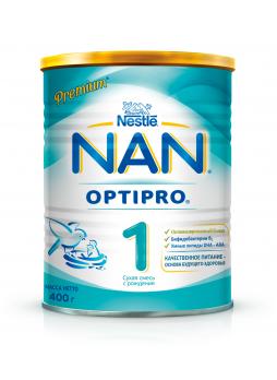 NAN 1 OPTIPRO Сухая молочная смесь для детей с рождения, 400 г