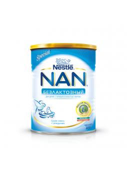 NAN Безлактозный Сухая безлактозная смесь для детей с рождения, 400 г