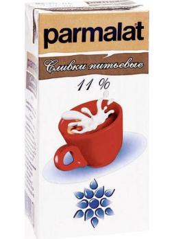 Parmalat Сливки ультрапастеризованные 11%, 500г БЗМЖ