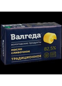 Масло ВАЛГЕДА сливочное традиционное 82,5%, 180 г