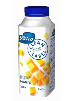 Valio Йогурт питьевой Clean Label 0,4 % с манго 330 г БЗМЖ