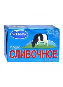 Масло сливочное 82,5%, в/с, ГОСТ, БЗМЖ, 450г., фольга, Экомилк, Россия, (КОД 73515) (-18°С)