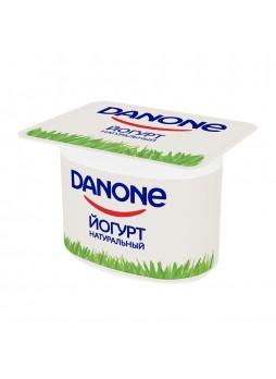 Йогурт натуральный, 3,3%, БЗМЖ, 110г. х 4шт., пласт. бокс, Данон , Россия, (КОД 63944) (+5°С)