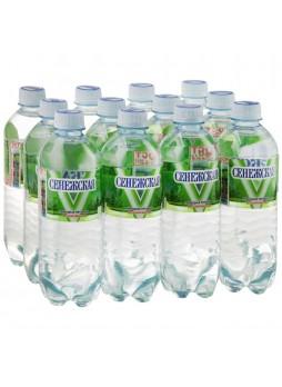 Вода питьевая минеральная негаз. 0,5л х 12шт пласт. бут. Сенежская Россия (КОД 63592) (+18°С)