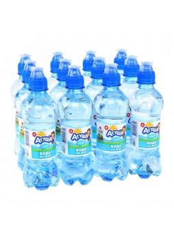 Вода питьевая для детей, высшая кат., 0,33л. х 12шт., бут. ПЭТ, Агуша, Россия, (КОД 64507), (+18°С)