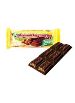 """""""Альпийская сказка"""" молочный шоколад с кремовой начинкой и дробленным орехом оптом"""