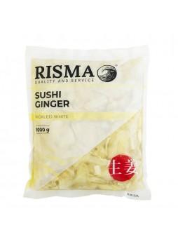 Имбирь маринованный белый 1.5кг (осн.пр.1кг) х 10шт пакет Risma Китай (КОД 20873) (+18°С)