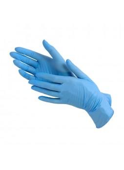Перчатки нитриловые смотровые, размер L, 200шт/уп (голубые) Benovy® Малайзия (КОД 99664) (+18°С)