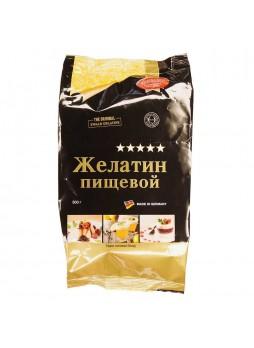 Желатин порошок (гранулированный) 500гр пакет 180 блюм  Rheingold™ Россия (КОД 41019) (+18°С)