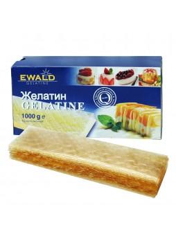 Желатин листовой пищевой 1кг/уп 200лист 140+блум DE RP-EV 11-001 EG Ewald Германия(КОД 97818)(+18°С)